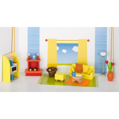 Holz Wohnzimmer/Puppenstube für Kinder ab 3 Jahre