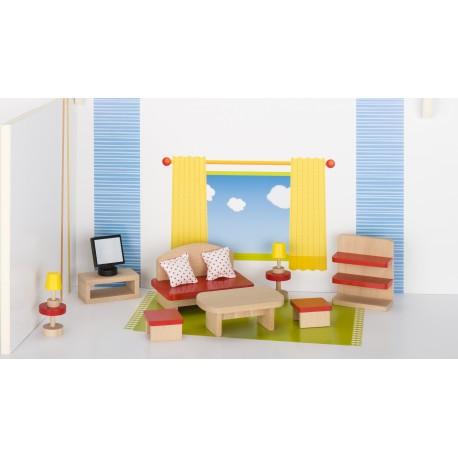 Holz Puppenmöbel/Wohnzimmer für Kinder ab 3 Jahre