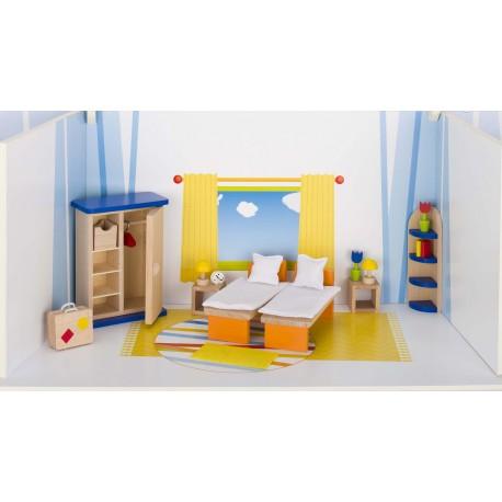 Holz Puppenmöbel/Schlafzimmer für Kinder ab 3 Jahre