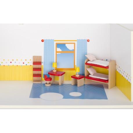 Holz Puppenmöbel/Kinderzimmer für Kinder ab 3 Jahre