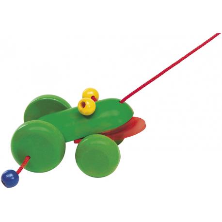 Holz Nachzieh-Frosch mit Klappermund für Kinder ab 1 Jahr