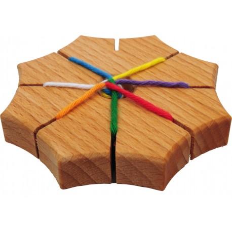 Holz Knüpfstern für Kinder ab 4  Jahre