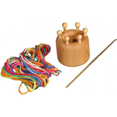 Holz Strickrum für Kinder ab 6  Jahre