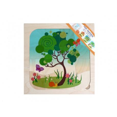 """Holz 4-Schichtpuzzle """"Jahreszeiten"""" für Kinder ab 3  Jahre"""