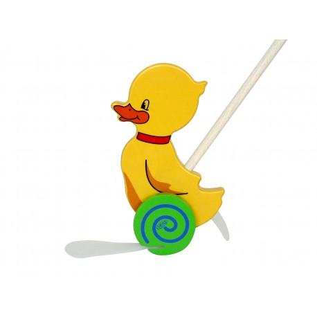 Holz Schiebe - Ente für Kinder ab 1 Jahr