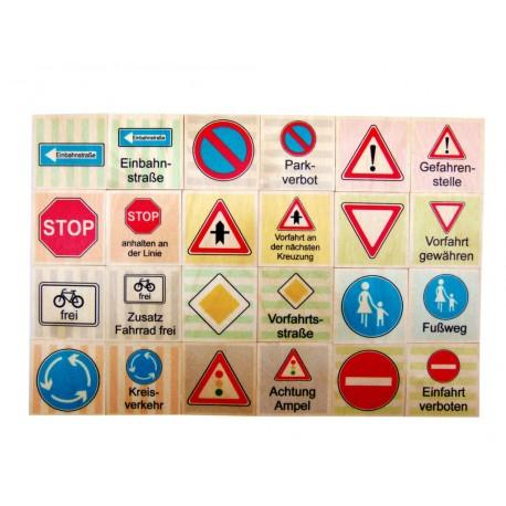 Holz Memo Verkehrszeichen für Kinder ab 5  Jahre