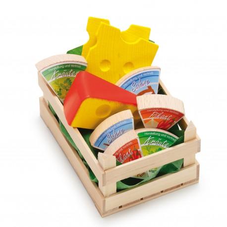 Holz Sortiment Käse, klein für Kinder ab 3 Jahre