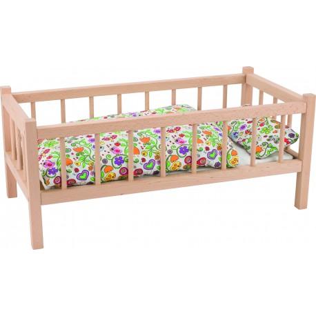 Holz Puppenbett ohne Bettzeug für Kinder ab 3 Jahre