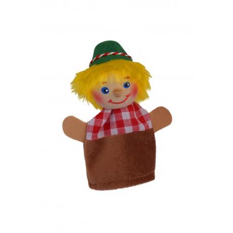 """Fingerpuppe """"Seppel"""" mit Holzkopf für Kinder ab 3 Jahre"""