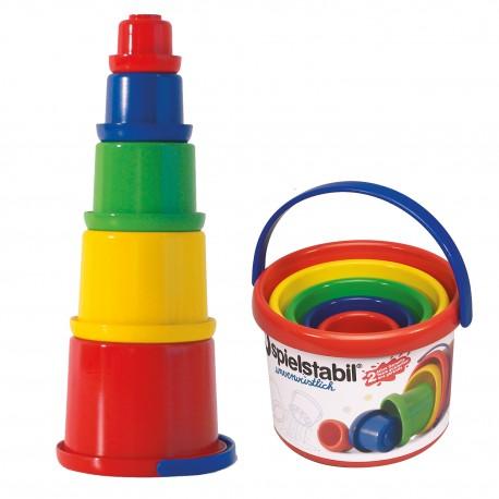Sandspielzeug Stapelbecher-Set, 5-teilig für Kinder ab 1 Jahr