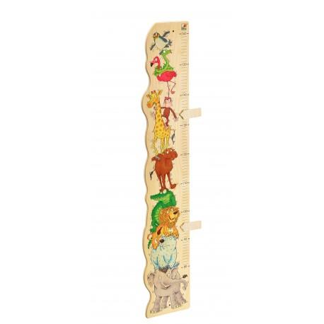 Holz Messlatte, Zoorino für Kinder ab 3 Jahre