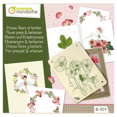 Blumen- und Kräuterpresse für Kinder von 6 bis 10 Jahren
