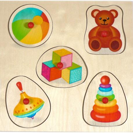 Holz Steckpuzzle für Kinder ab 1 Jahr