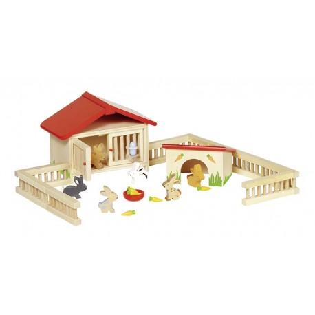 Holz Kanichenstall für Kinder ab 3 Jahre