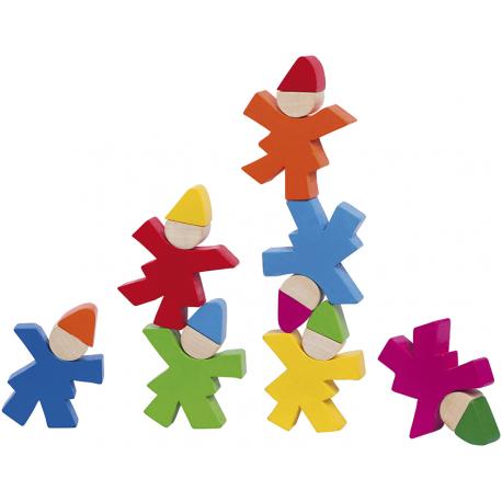 Holz Zwergenstapel für Kinder ab 2 Jahre