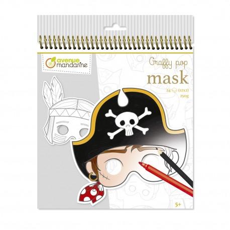 Graffy pop Maskenmalbuch zum Ausmalen für Kinder ab 5 Jahre