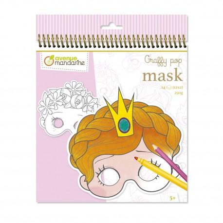 Graffy pop Maskenmalbuch Mädchen zum Ausmalen für Kinder ab 5 Jahre