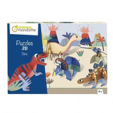Puzzle 3D Dinosaurier für Kinder ab 4  Jahre