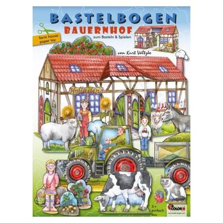 """Bastelbogen """"Bauernhof"""" für Kinder ab 5 Jahre"""