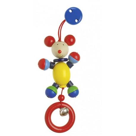 Holz Clipfigur Maus für Kinder ab 0 Jahre