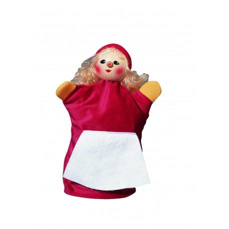 """Handpuppe """"Rotkäppchen"""" mit Holzkopf für Kinder ab 3 Jahre"""