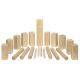 Holz Wikingerspiel Kubb, im Baumwollbeutel für Kinder ab 5 Jahre