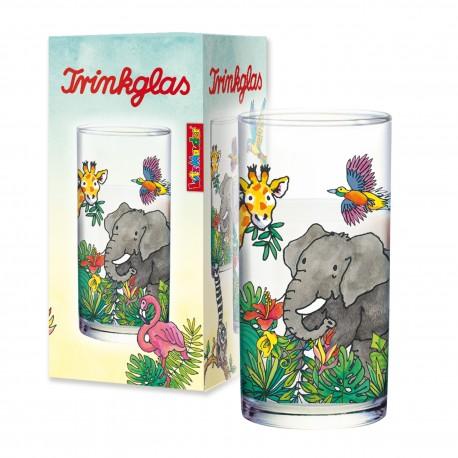 Trinkglas mit Zootieren für Kinder ab 3 Jahre