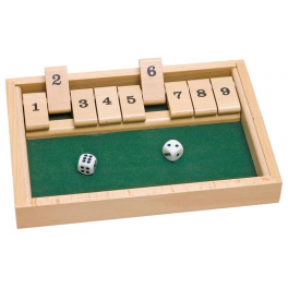Shut the box - Additionsspiel aus Holz/Kinder ab 6 Jahre