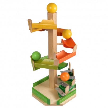 Holz Treppen-Kugelbahn für Kinder ab 3 Jahren