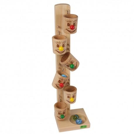 Holz Kullerbecher für Kinder ab 3 Jahren