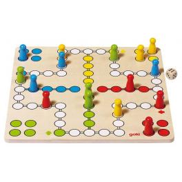 Holz-Brettspiel Ludo, goki basic. für Kinder ab 4 Jahre