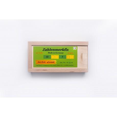 Zahlenmerkfix (42 teilig) aus Holz für Kinder ab 4 Jahre