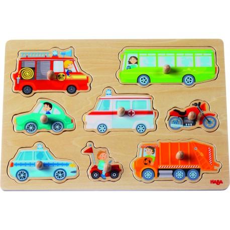 Holz Greifpuzzle Fahrzeugwelt für Kinder ab 1  Jahr