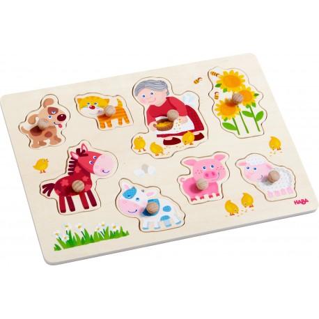 Holz Greifpuzzle Oma Lenis Tiere für Kinder ab 1  Jahr