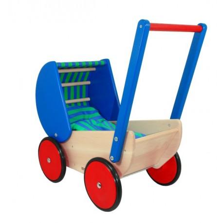 Holz Puppenwagen für Kinder ab 1 Jahr