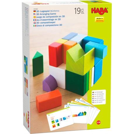 Holz 3D-Legespiel Würfelmix für Kinder ab 3  Jahre