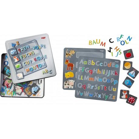 Magnetspiel-Box Buchstaben für Kinder ab 5  Jahre