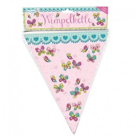 """Wimpelkette """"Schmetterlinge"""" für Kinder ab 3 Jahre"""