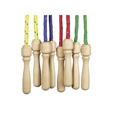 Springseil mit Holzgriff für Kinder ab 4 Jahre