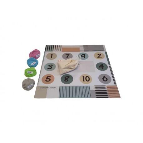 Spielematte 1 -10 für Kinder ab 4 Jahren