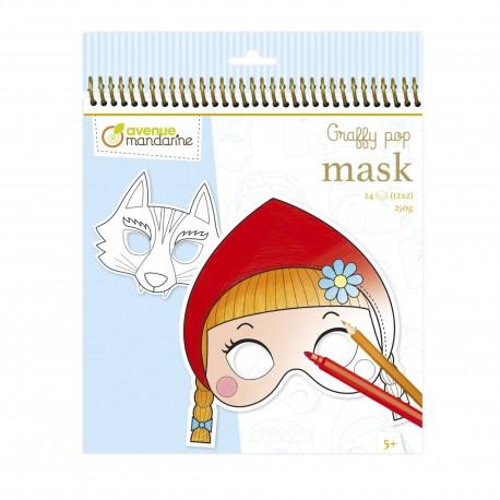 """Graffy pop Maskenmalbuch """"Grimm's Märchen""""  für Kinder ab 5 Jahre"""