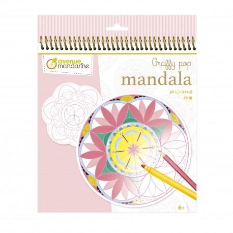 """Graffy Pop Mandala """"Mädchen"""" zum Ausmalen für Kinder ab 6 Jahre"""