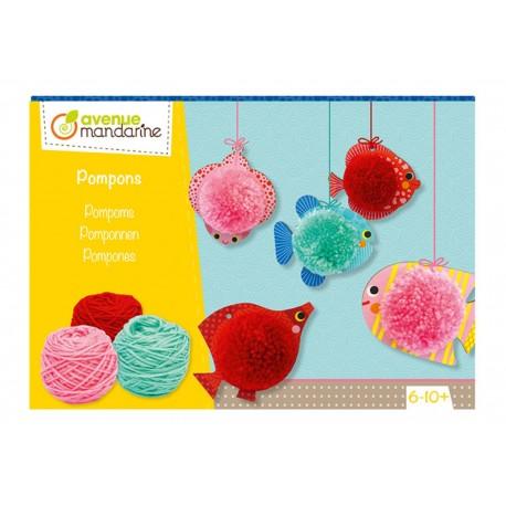 Pompons für Kinder von 6 - 10 Jahren