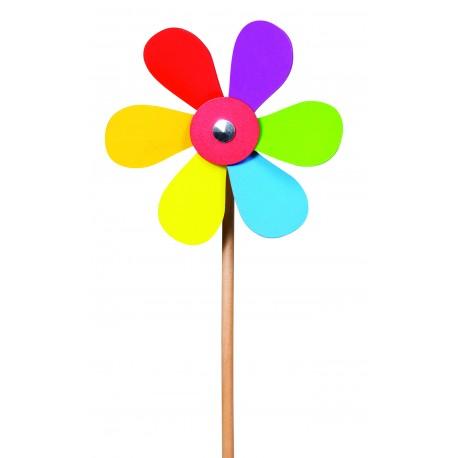 """Holz-Windmühle """"Blume"""" für Kinder von 3 Jahre"""