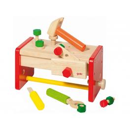 Holz Werkbank/ Werkzeugkiste für Kinder ab 3 Jahre