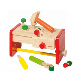 Holzspielzeug - Werkbank/ Werkzeugkiste für Kinder ab 3 Jahre