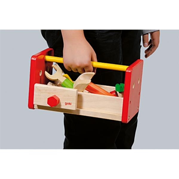 Holzspielzeug - Werkbank/Werkzeugkiste für Kinder ab 3 Jahre