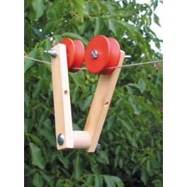 KRAUL Holz-Seilflitzer für Kinder ab 5 Jahre