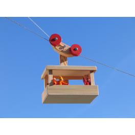 KRAUL Große Seilbahn aus Holz für Kinder ab 5 Jahre