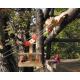 Große Seilbahn aus Holz für Kinder ab 5 Jahre